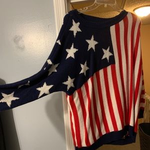 Forever 21 American flag sweater